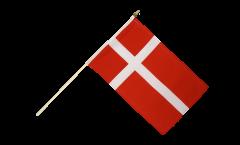Drapeau Danemark sur hampe - 30 x 45 cm