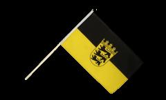Drapeau Allemagne Bade-Wurtemberg sur hampe