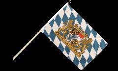Drapeau Allemagne Bavière Freistaat Bayern sur hampe