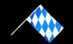 Drapeau Allemagne Bavière sans blason sur hampe