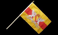 Drapeau Allemagne Grand-Duché de Bade avec Blason sur hampe