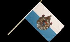 Drapeau Allemagne Royaume de Bavière 1806-1918 sur hampe