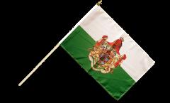 Drapeau Allemagne Royaume de Saxe 1806-1918 sur hampe