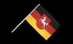 Drapeau Allemagne Basse-Saxe sur hampe