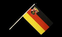Drapeau Allemagne Rhénanie-Palatinat sur hampe
