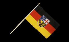 Drapeau Allemagne Sarre sur hampe