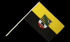 Drapeau Allemagne Saxe-Anhalt sur hampe