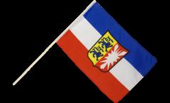 Drapeau Allemagne Schleswig-Holstein sur hampe