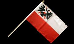 Drapeau Allemagne Lübeck sur hampe