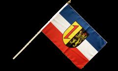 Drapeau Allemagne Mannheim sur hampe