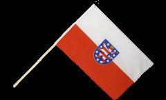 Drapeau Allemagne Thuringe sur hampe