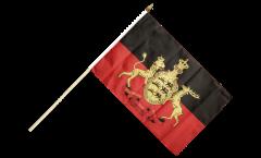 Drapeau Allemagne Wurtemberg sur hampe