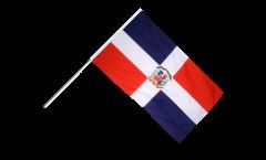Drapeau République dominicaine sur hampe