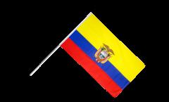 Drapeau Équateur sur hampe