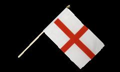 Drapeau Angleterre St. George sur hampe - 30 x 45 cm