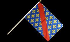 Drapeau France Allier sur hampe - 30 x 45 cm