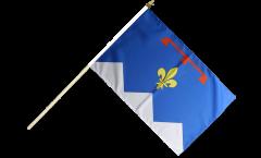 Drapeau France Alpes-de-Haute-Provence sur hampe - 30 x 45 cm
