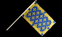 Drapeau France Ardèche sur hampe - 30 x 45 cm