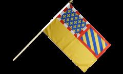 Drapeau France Côte-d'Or sur hampe - 30 x 45 cm