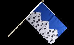 Drapeau France Côtes-d'Armor sur hampe