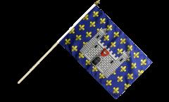 Drapeau France Carcassonne sur hampe - 30 x 45 cm