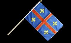 Drapeau France Clermont-Ferrand sur hampe - 30 x 45 cm