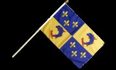 Drapeau France Dauphiné sur hampe