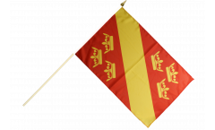 Drapeau France Haut-Rhin sur hampe - 30 x 45 cm