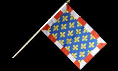 Drapeau France Indre-et-Loire sur hampe - 30 x 45 cm