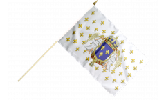 Drapeau France Royaume 987 - 1791 sur hampe - 30 x 45 cm