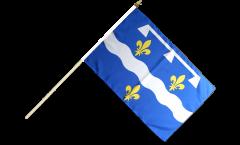 Drapeau France Loiret sur hampe - 30 x 45 cm