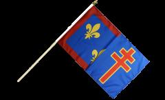 Drapeau France Maine-et-Loire sur hampe