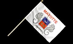 Drapeau France Mayotte sur hampe - 30 x 45 cm