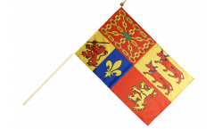 Drapeau France Pyrénées-Atlantiques sur hampe - 30 x 45 cm