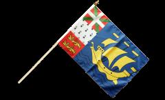 Drapeau France Saint-Pierre-et-Miquelon sur hampe - 30 x 45 cm