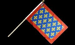 Drapeau France Sarthe sur hampe - 30 x 45 cm