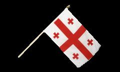 Drapeau Géorgie sur hampe