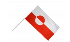 Drapeau Groenland sur hampe