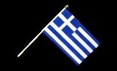 Drapeau Grèce sur hampe - 30 x 45 cm