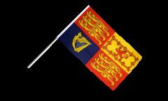 Drapeau Royaume-Uni Royal sur hampe