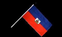 Drapeau Haïti sur hampe