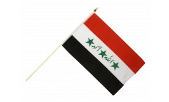 Drapeau Irak ancien 1991-2004 sur hampe