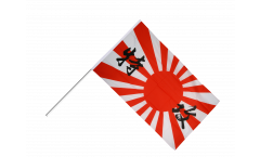 Drapeau Japon WWI KAMIKAZE sur hampe