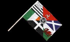 Drapeau Pays Celtique Panceltique sur hampe