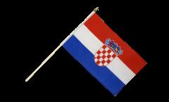 Drapeau Croatie sur hampe - 30 x 45 cm