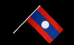 Drapeau Laos sur hampe