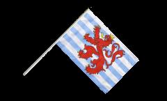 Drapeau Luxembourg Lion sur hampe