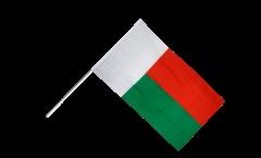 Drapeau Madagascar sur hampe