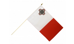 Drapeau Malte sur hampe