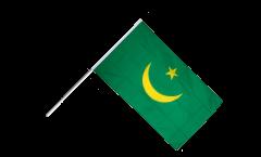 Drapeau Mauritanie 1959-2017 sur hampe